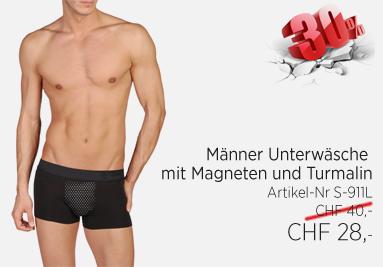 Männer Unterwäsche mit Magneten und Turmalin